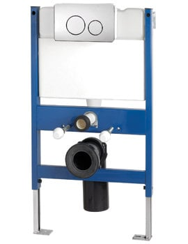 Pura Reduced Height Wall Hung WC Frame System With Front Dual Flush Plate