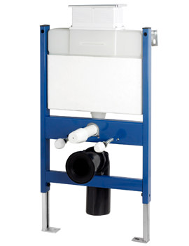 Pura Reduced Height Wall Hung WC Frame System With Top Dual Flush Plate