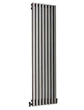 DQ Heating Dune Brushed Stainless Steel Designer Radiator 280 x 1600mm