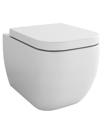 Pura Essence Wall Hung WC Pan And Soft Close Seat 500mm