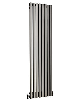 DQ Heating Dune 280 x 1800mm Brushed Stainless Steel Designer Radiator