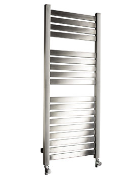 DQ Heating Alisi 500mm Wide Stainless Steel Heated Towel Rail Brushed Or Polished