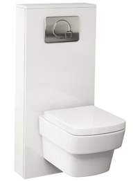 Pura Echo 500mm WC Cistern Frame White Gloss Furniture Cover