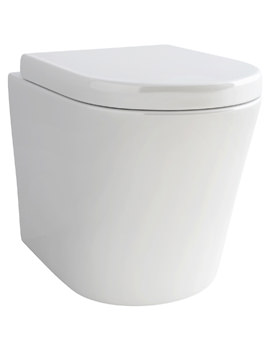Pura Arco Back-To-Wall WC Pan And Soft Close Seat 520mm