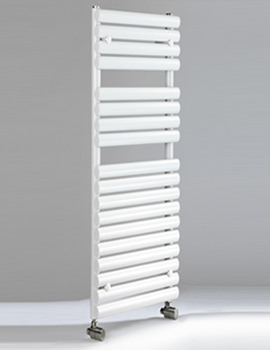 DQ Heating Cove TR White 500 x 826mm Oval Tube Heated Towel Rail