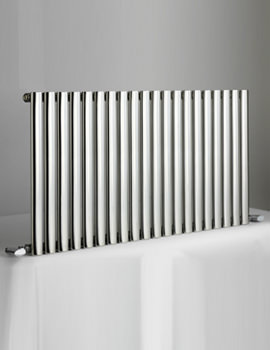 DQ Heating Cove 600mm High Stainless Steel Single Horizontal Radiator