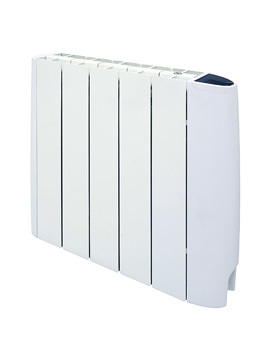 DQ Heating Eco Electric Oil-Filled Panel Radiator White 870 x 580mm