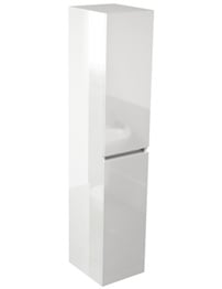 Pura Echo 350 x 1500mm White Gloss Double Door Tall Storage Unit