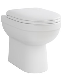 Pura Ivo Back-To-Wall WC Pan And Soft Close Seat 550mm