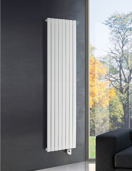 DQ Heating Rosy Electric Vertical Radiator 448 x 1800mm White