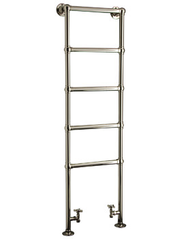 DQ Heating Elveden Floor Mounted Heated Towel Rail 846 x 1566mm