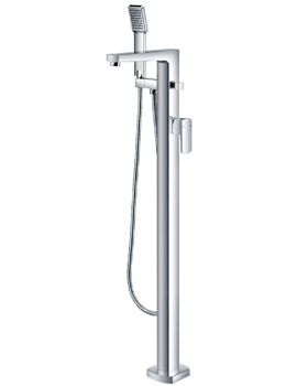 Flova Dekka Floor Mounted Bath/Shower Mixer Tap With Handset And Hose