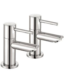 Pura Ivo Chrome Finish Bath Pillar Taps