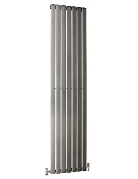 DQ Heating Delta Brushed Stainless Steel Vertical Radiator 230 x 2000mm