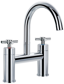 Flova XL Deck Mounted Chrome Finish Bath Filler Tap
