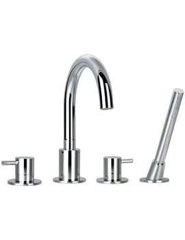 Flova Levo Deck Mounted Bath Shower Mixer Tap With Handset And Hose