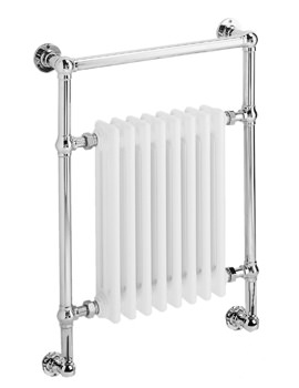 DQ Heating Lynford 846 x 798mm Traditional Wall Mounted Heated Towel Rail