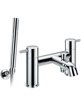 Flova Levo Deck Mounted Bath/Shower Mixer Tap With Handset And Hose