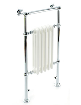 DQ Heating Lynford Floor Mounted Traditional Heated Towel Rail  846 x 956mm