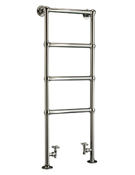 DQ Heating Methwold Floor Mounted Heated Towel Rail 846 x 1261mm
