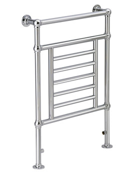 DQ Heating Cranwich Floor Mounted Heated Towel Rail 846 x 956mm