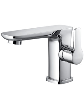 Flova Urban Side Lever Chrome Finish Basin Mixer Tap With Clicker Waste