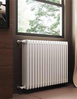 DQ Heating Modus 2500mm High 5 Column Radiator White - 4 To 44 Sections