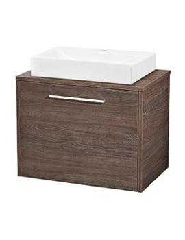 Hudson Reed Horizon Mid Sawn Oak 1 Drawer Cabinet