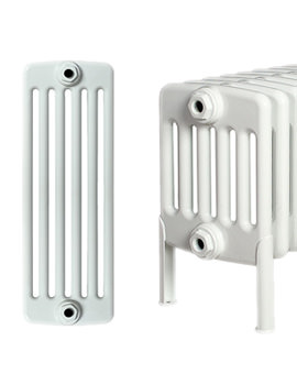 Apollo Roma 300 x 1000mm Steel 6 Column Radiator With Welded Feet