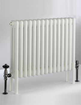 DQ Heating Peta 1792mm High 2 Column Radiator White -3 To 40 Sections