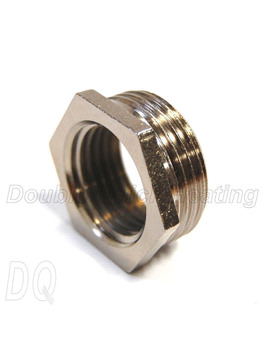 DQ Heating 3-4 Inch BSPT x 1-2 Inch BSPP M-F Bush Chrome