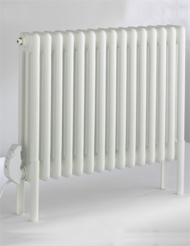 DQ Heating Peta Electric 3 Column 15 Section Radiator 761 x 492mm White