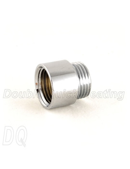 DQ Heating 15mm Rigid Radiator Valve Extension Chrome