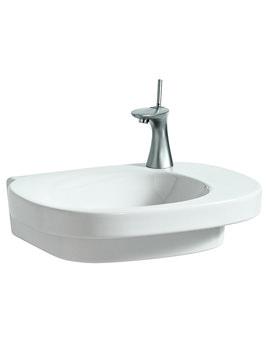 Laufen Mimo Asymmetrical Undersurface Ground Washbasin 550 x 440mm No TH