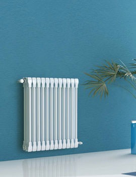 Apollo Monza Horizontal 420mm Height 4 Column Aluminium Radiator