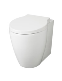 Hudson Reed Langdon White Back To Wall Pan With Soft Close Seat