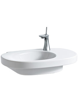 Laufen Mimo Asymmetrical Washbasin 650 x 440mm With No Tap Hole