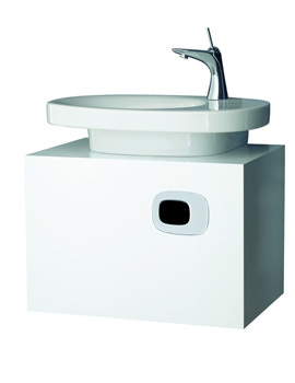 Laufen Mimo Wall Mounted Single Drawer Vanity Unit 650 x 450mm - White