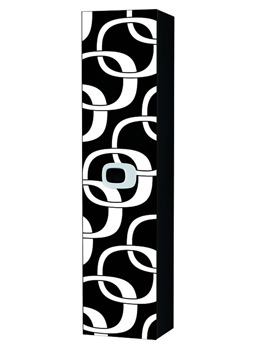 Laufen Mimo 360 x 1500mm Tall Cabinet Black With White Graphics