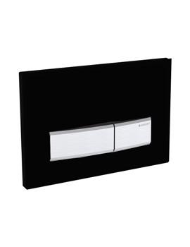 Geberit Sigma50 Jet Black Plastic Dual Flush Plate