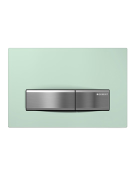 Geberit Sigma50 Green Satin Glass Dual Flush Plate