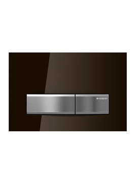 Geberit Sigma50 Umbra Glass Dual Flush Plate