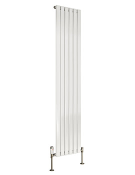 DQ Heating Axis Single Flat Panel White Vertical 1800mm High Radiator