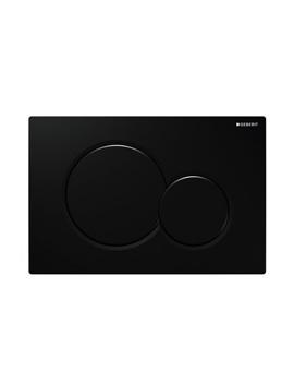 Geberit Sigma01 Jet Black Plastic Dual Flush Plate