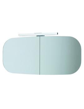 Laufen Mimo 1000 x 450mm Double Door Mirror Cabinet With Black Light