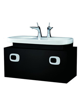 Laufen Mimo Wall Hung 1000mm Black Vanity Unit For Double Washbasin