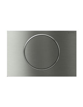 Geberit Sigma10 Stainless Steel Mains Operated Dual Flush Plate