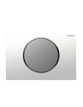 Geberit Sigma10 Battery Operated Dual Flush Plate - White-Chrome