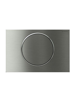Geberit Sigma10 Battery Operated Dual Flush Plate - Stainless Steel