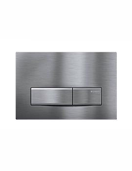 Geberit Sigma50 Stainless Steel Plastic Dual Flush Plate